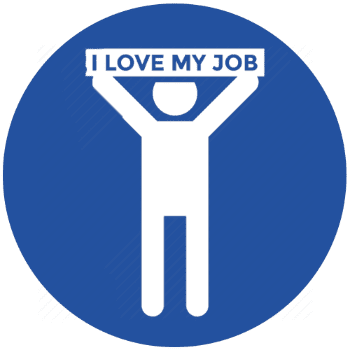 Someone with a I Love My Job Sign Icon