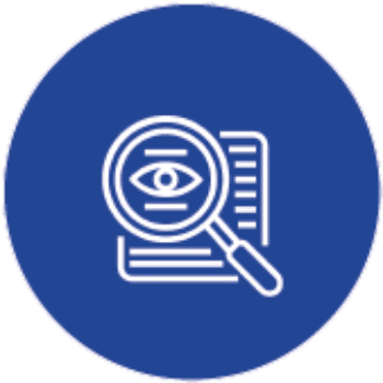Magnifying Glass on a Document Icon